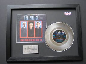 "THE POLICE - Dont Stand So Close To Me 7"" Platinum Disc With Cover"